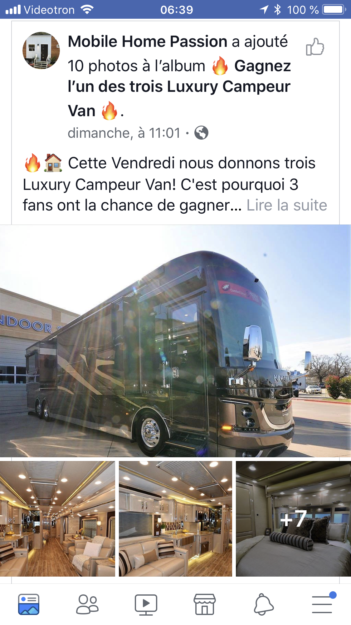 faux concours facebook mobile home passion campeur