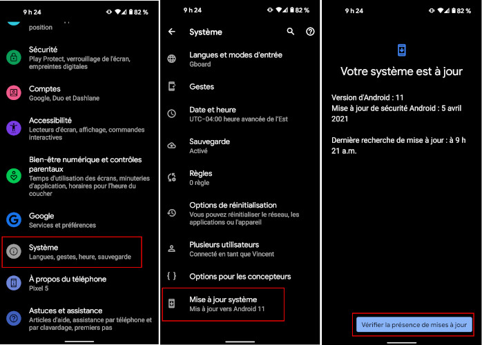 Comment installer mise à jour Android